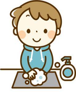 手洗い男の子